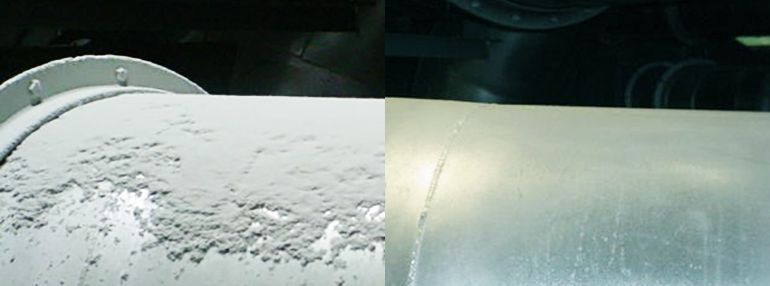 Before:after combustible dust